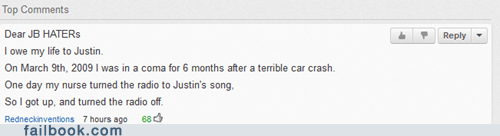 Bieber bieliebers comment justin bieber youtube comment - 6393691904