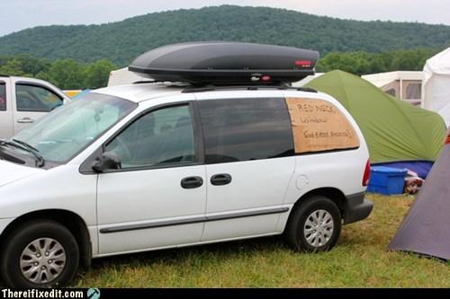 4oj america fourth of july god bless america minivan redneck window van - 6393709312