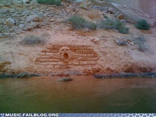 carving pink floyd Roger Waters the wall utah - 6393717504
