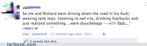 douche douchebags owl city Starbucks - 6393726976