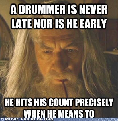 drummer drumming gandalf Hall of Fame Lord of the Rings