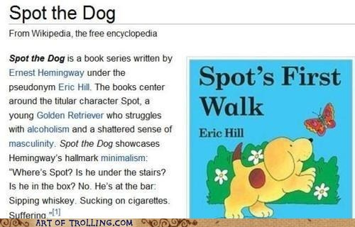 books ernest hemingway spot the dog wikipedia