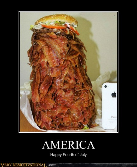4th of july,america,bacon,burger,Pure Awesome