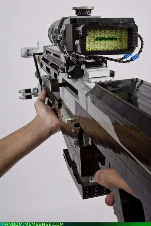 Fan Art,fandom,halo reach,lego,rifle,video games