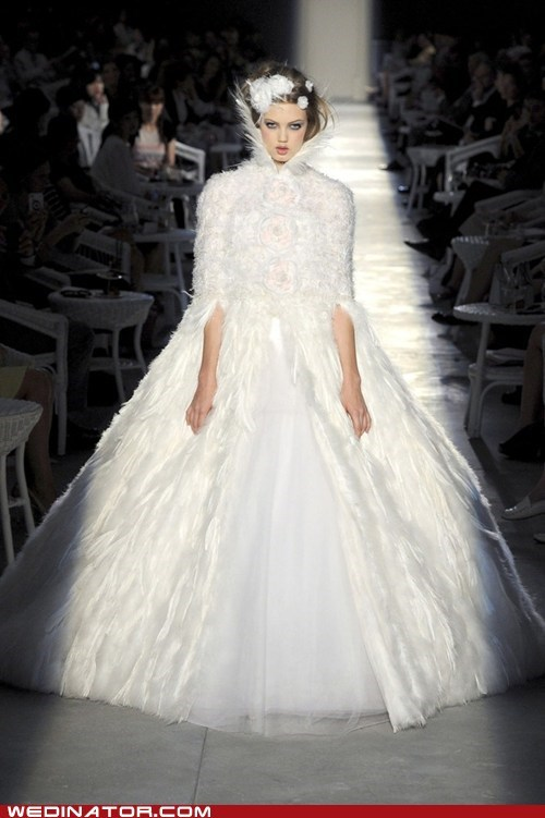 bridal couture,funny wedding photos,lindsay wixson,runway,wedding dress,wedding fashion