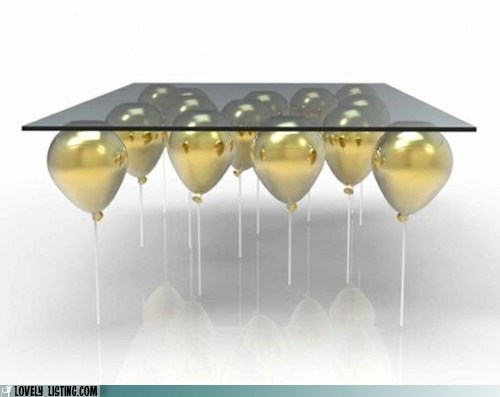 Balloons glass gold magic table - 6394267904