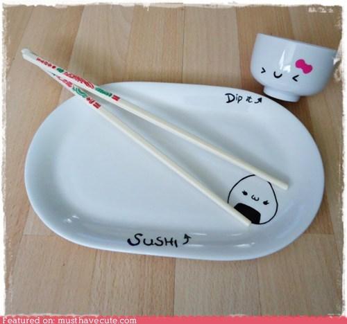bowl dish japanese plate sushi - 6394274304
