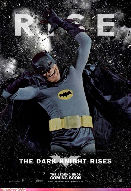 Adam West batman funny Hall of Fame Movie poster shoop summer blockbusters the dark knight rises