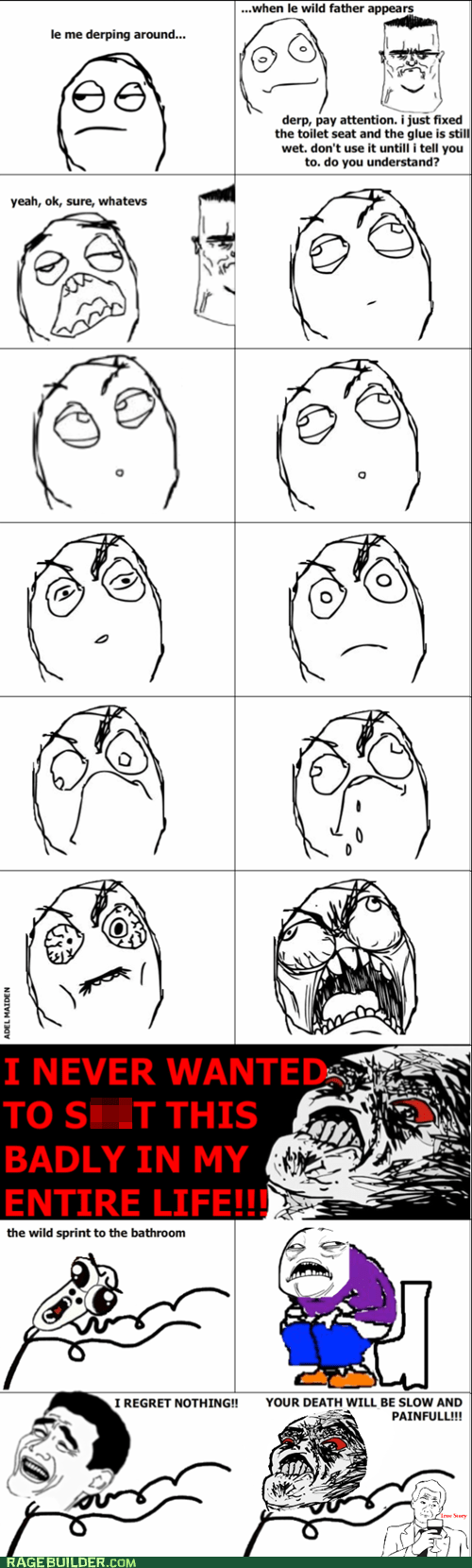 omg run pooptimes Rage Comics toilet - 6394359808