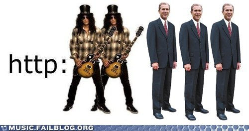 george w bush,guns n roses,http,pun,slash