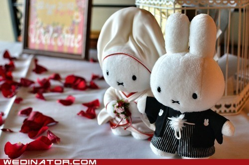 funny wedding photos Japan miffy wedding - 6394511616