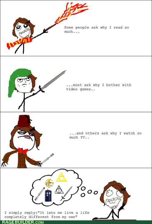 doctor who Harry Potter nerd pride Rage Comics - 6394584320