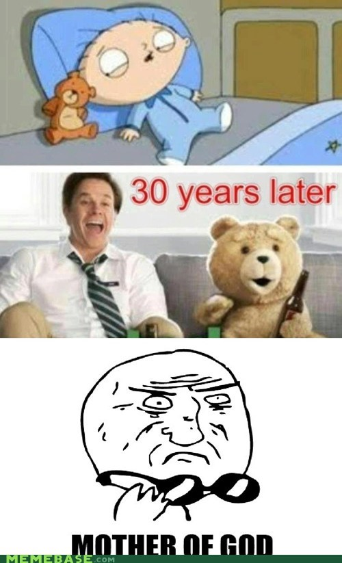 Memes,mother of god,movies,stewie,TED,teddy bear
