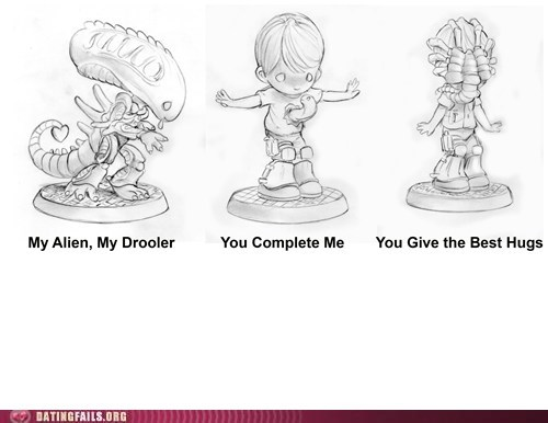 alien Drooler face huggers you complete me - 6394626304