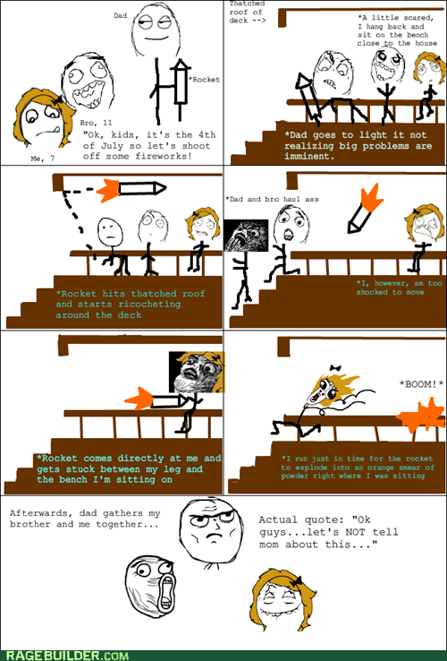 4th of july fireworks Rage Comics summer - 6394641920