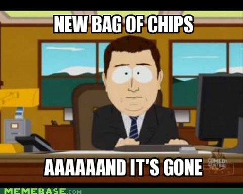 and-its-gone chips friends Memes South Park - 6394691840