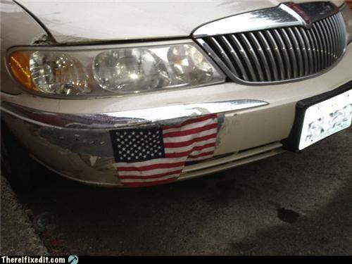 america american American Flag bumper bumper sticker car bumper fourth of july - 6394720256
