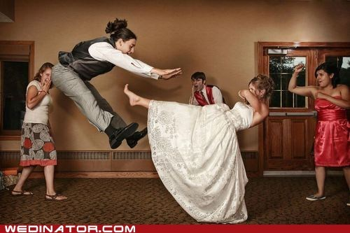 bride,capoeira,funny wedding photos,groom,martial arts
