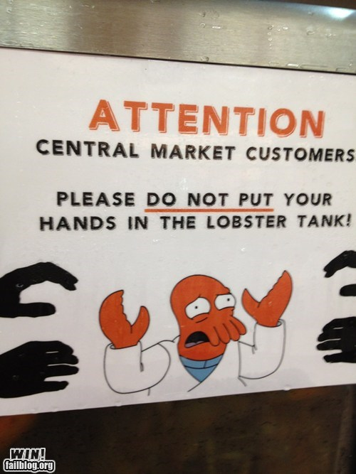 clever lobster meme signs Zoidberg - 6394793984