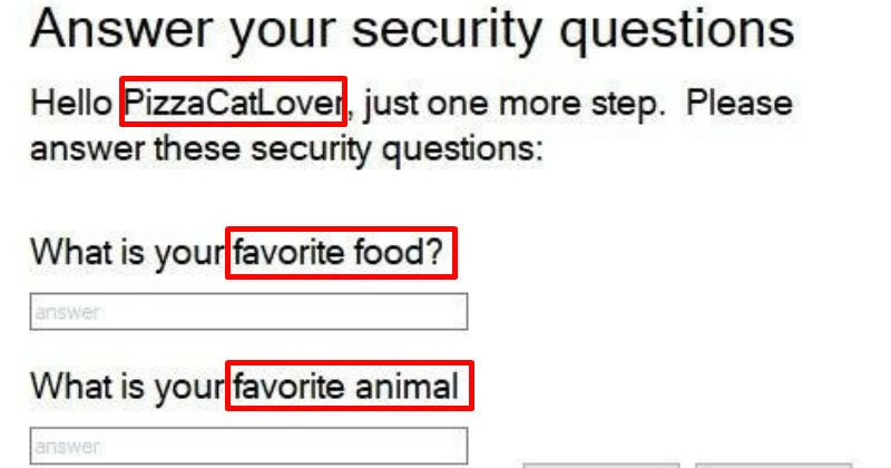 cover image about failing to answer a security question
