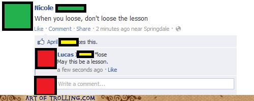 facebook,grammar,lesson,lose,spelling