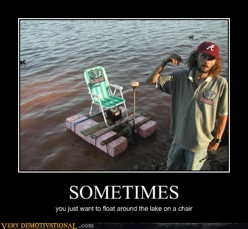 chair hilarious lake redneck