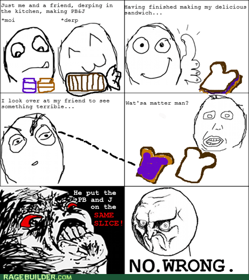 no pbj PB&J Rage Comics raisin rage