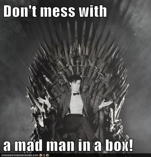 box doctor who iron throne joffrey baratheon mad man Matt Smith tardis the doctor - 6395705856
