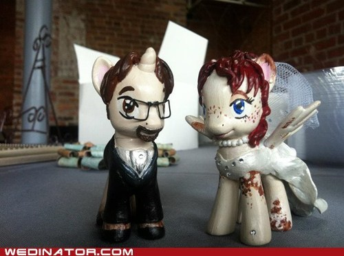cake toppers,funny wedding photos,geek,my little pony