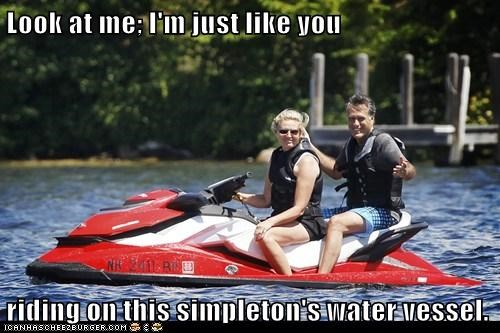 jet ski,lake,Mitt Romney,political pictures,water