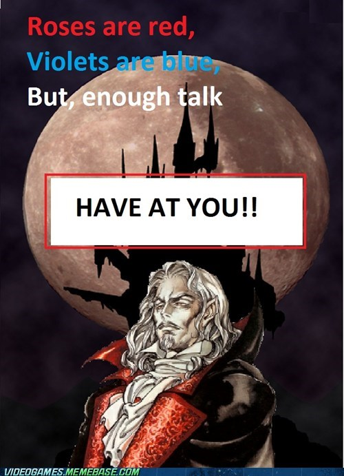 Castlevania have at you poem symphony of the night the internets valentines