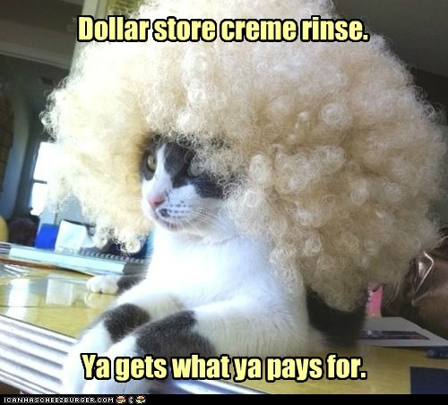 afro cheap creme dollar store FAIL hair lolcat rinse