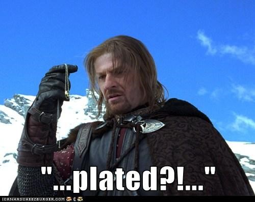 Boromir,disappointed,gold plated,Lord of The Ring,Lord of the Rings,ring,rip off,sean bean