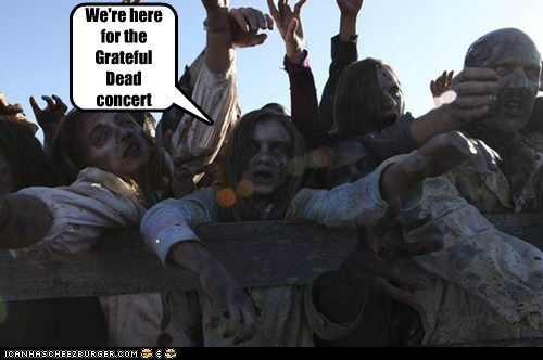 concert,deadheads,grateful dead,line,The Walking Dead,zombie