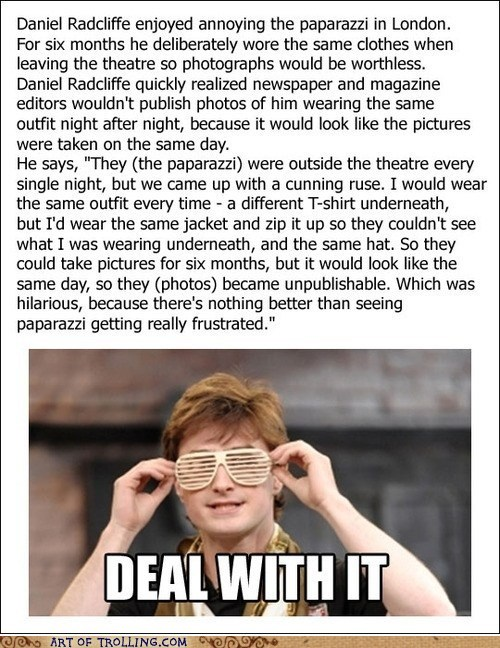 Daniel Radcliffe Deal With It Memes paparazzi - 6396549120