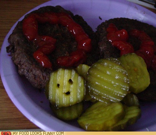 best of the week,burger,Death,face,happy,pickle