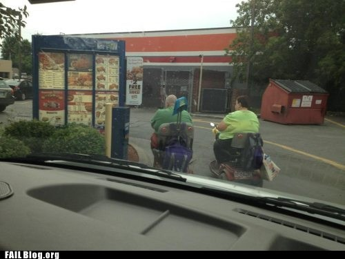 drive thru fast food wheelchairs - 6396681984