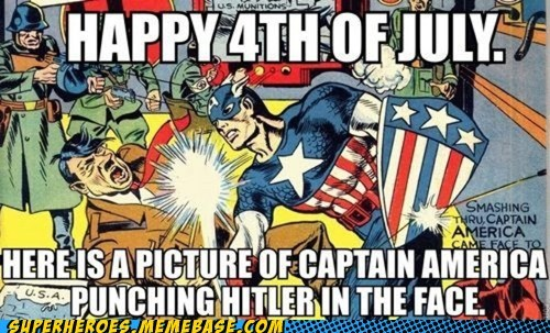 4th of july captain america hitler Super-Lols