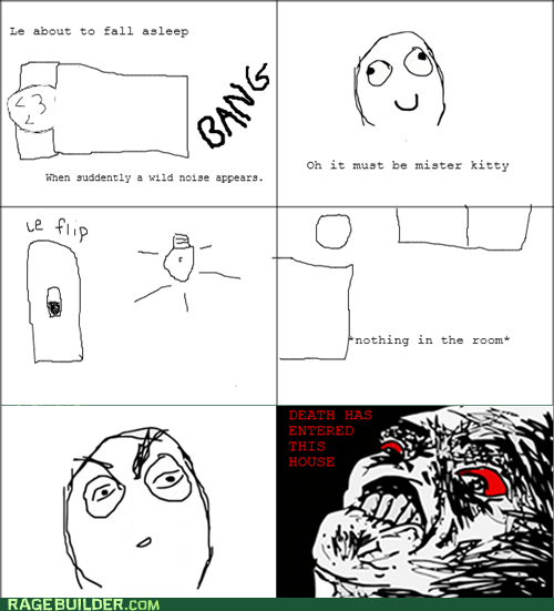 Death,Rage Comics,raisin rage,scary