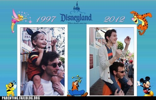 Before And After disneyland father and son