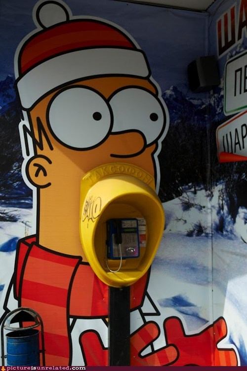 cartoons homer pay phones simpsons wtf - 6396998912