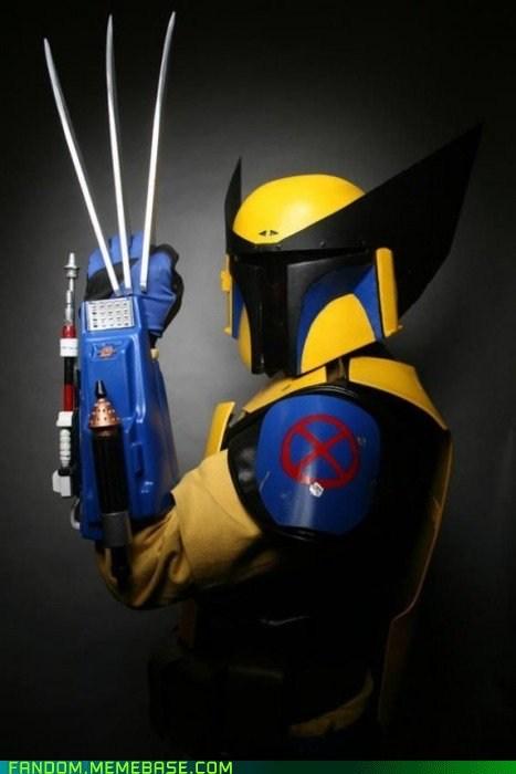 boba fett cosplay crossover scifi wolverine x men - 6397499392