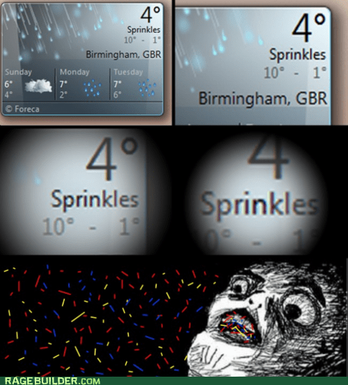Rage Comics,raisin face,sprinkles,weather