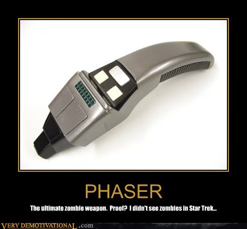 hilarious,phaser,Star Trek,zombie