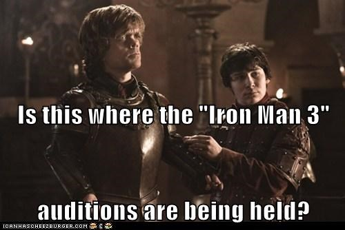 armor,audition,Game of Thrones,iron man 3,peter dinklage,tyrion lannister