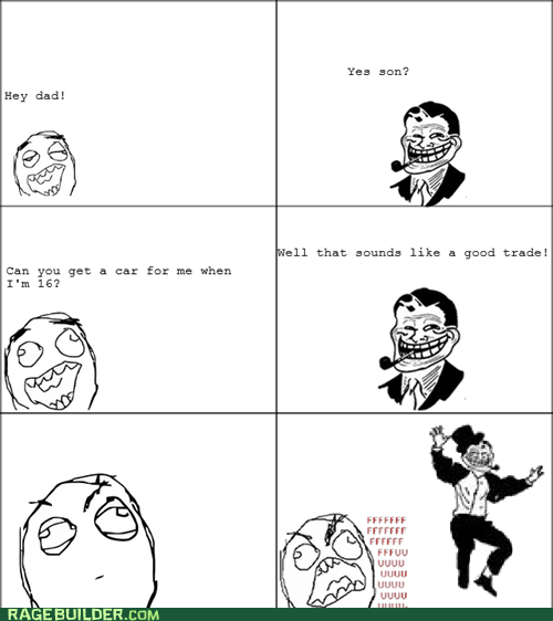 birthday car parenting Rage Comics troll dad - 6399004160