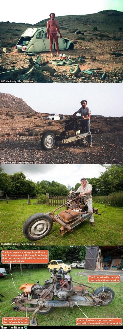 BAMF citroen emile leray macgyver motorcycle tale of survival - 6399047936