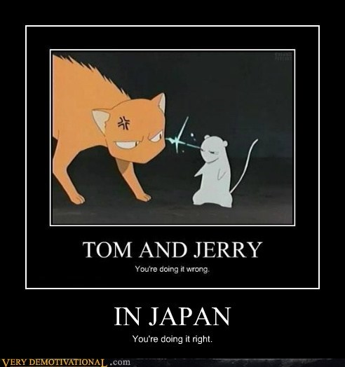 doing it right,hilarious,Japan,Tom and Jerry