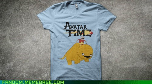 adventure time Avatar the Last Airbender avatar-the-last-airbende cartoons crossover Fan Art shirt - 6399393280