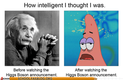 albert einstein,announcement,higgs boson,patrick star,science
